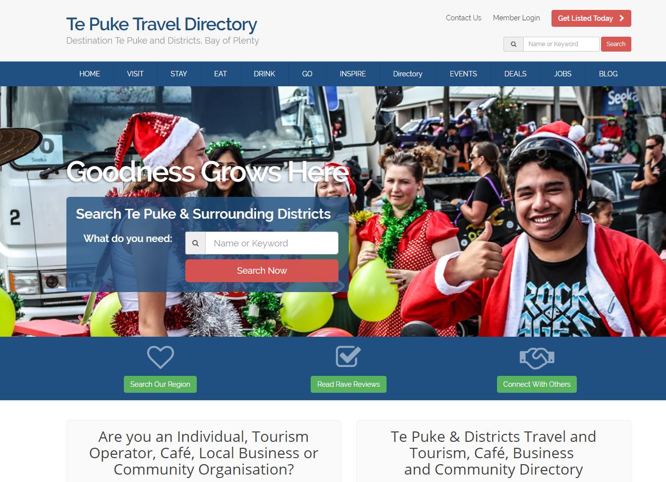 Te Puke travel and tourism directory